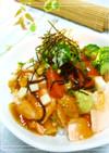 秋鮭のポン酢ジュレ丼