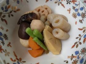 こんにゃくと野菜の煮しめ