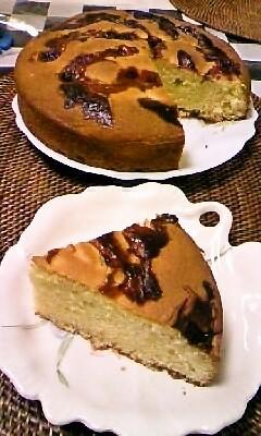 アーモンドたっぷりケーキ。
