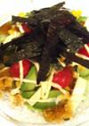 ポン酢ジュレのアボカドグリーンサラダ