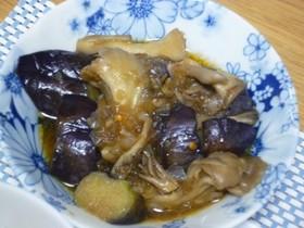 クセになる!茄子と舞茸のピリ辛煮