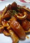 イカとウインナーの丁度いいトマト煮込み