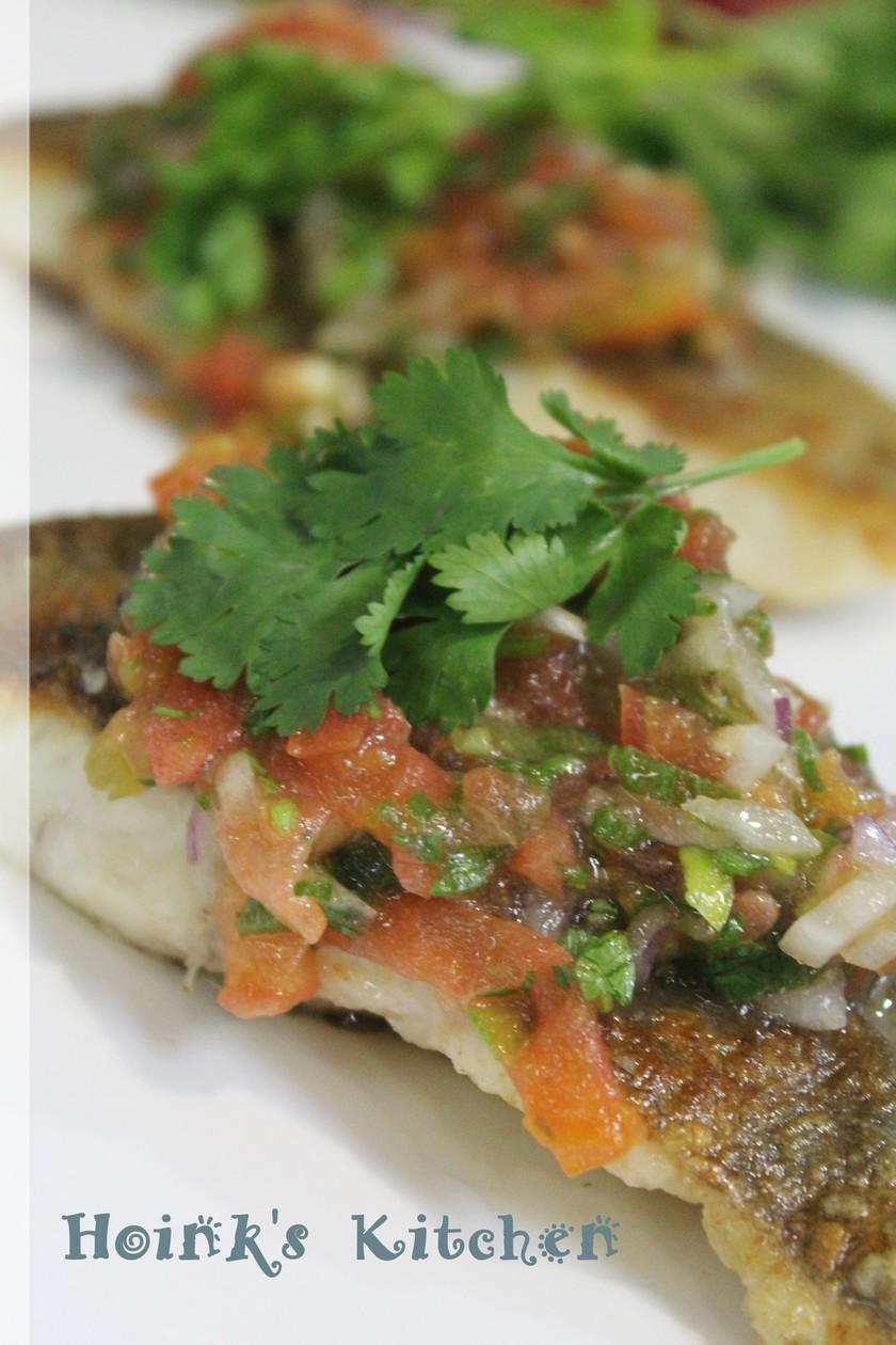 フィリピンの味★白身魚のトマトサルサ★