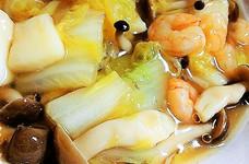 白菜とシーフードの中華煮