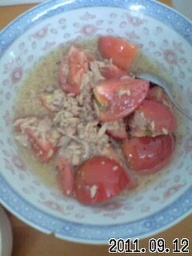 ツナトマトマスタードサラダ