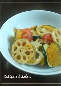 シャキシャキ蓮根と野菜のカラフルマリネ