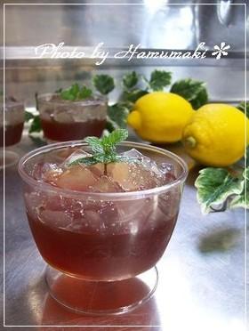 レモン&紅茶deさっぱり☆紅茶ゼリー♪