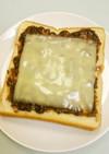 あんことチーズのトースト