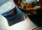 味噌汁+プレーンヨーグルト