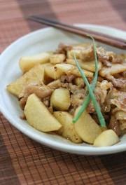 ホク!シャキ?長芋と豚肉の甘辛炒めの写真