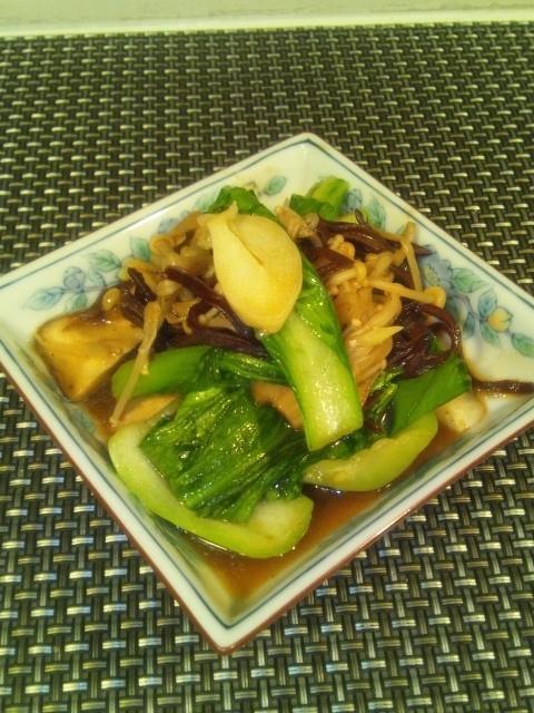 タニタさんに学べ【サブ】青梗菜ときのこ煮