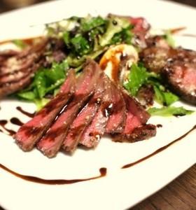 ワインに合う牛肉のタリアータ