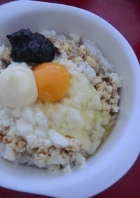 お酢で卵がけのりマヨご飯