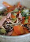 青梗菜とシメジの塩炒め
