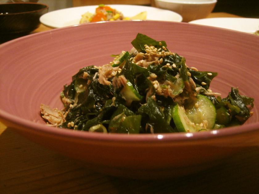 中華風❤キュウリとワカメとツナの酢の物