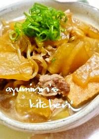 ♡豚肉・大根・糸こん・厚揚げの煮物♡