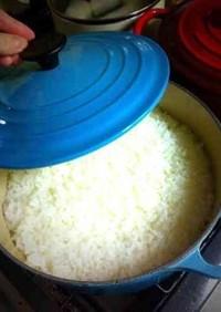 鍋で炊くごはん