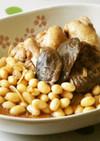鶏手羽元椎茸大豆煮