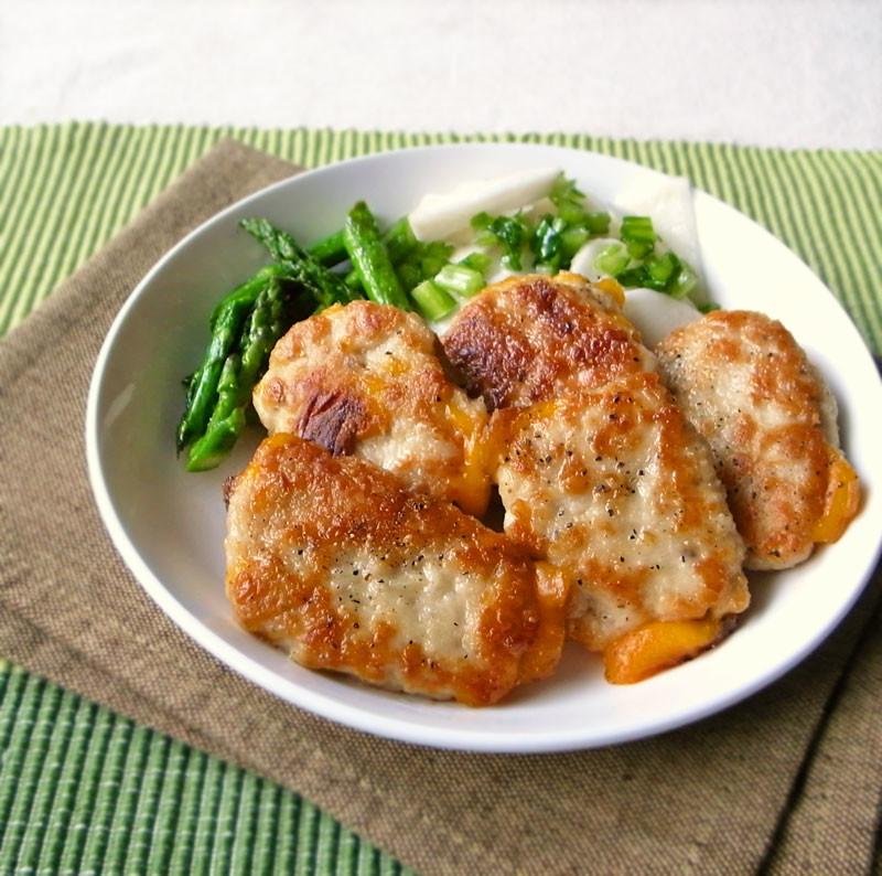 鶏ひき肉で!とろ~りチーズのはさみ焼き
