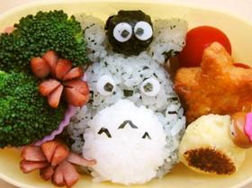 わかめご飯の素でできるトトロ☆キャラ弁