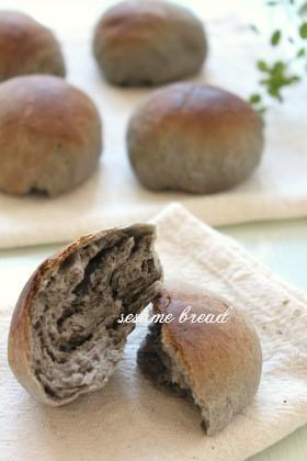 風味豊か✿練りゴマでごまパン