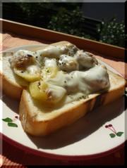 サバポテチーズトースト☆の写真