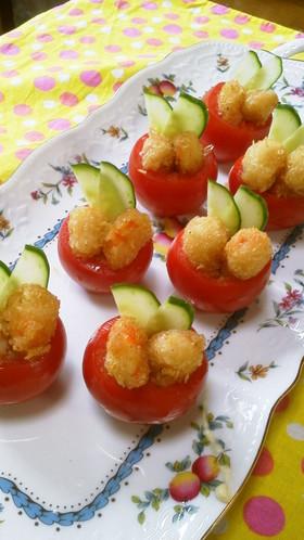 プチっと海老フライ&トマトのオードブル