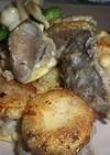 エリンギとひき肉のピカタ