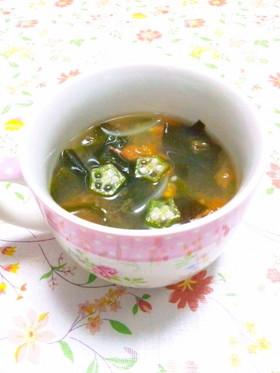 ダシダで☆わかめとトマトの中華スープ☆