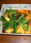 小松菜と柿で和え物