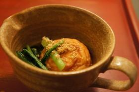 魚河岸揚げと小松菜の煮物