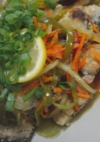 ♡秋刀魚のソテー 野菜の甘酢がけ♡