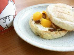 ジューシー♫柿とクリームチーズのマフィン