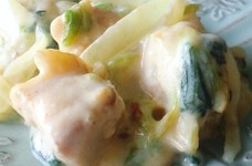 取り分け☆幼児食☆鶏と小松菜のクリーム煮
