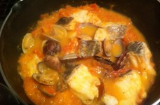 タラとあさりのトマト煮