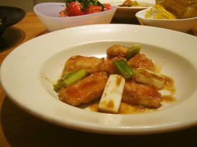焼葱がポイント❤柔らか鶏の生姜じょうゆ焼