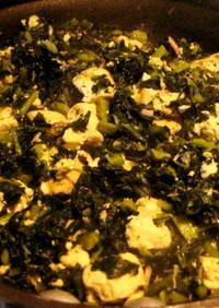 からし菜とツナ豆腐炒め