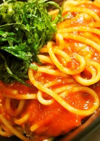 ♡秋刀魚の柚子コショウトマトパスタ♡