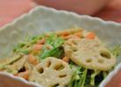 しゃっきりレンコンと水菜のごまマヨサラダ