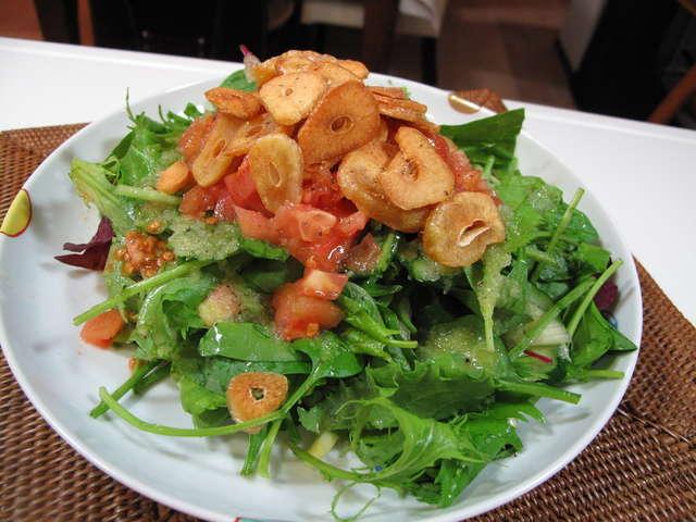 ほうれん草・にんにくチップのサラダ レシピ・作り方 by ゆみこ'S ...