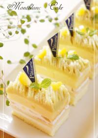 さつまいも☆モンブランショートケーキ