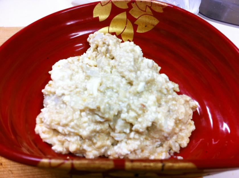✿里芋と豆腐のごまみそバター和え✿