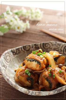 冷凍豆腐で♬肉巻き豆腐ステーキ♥