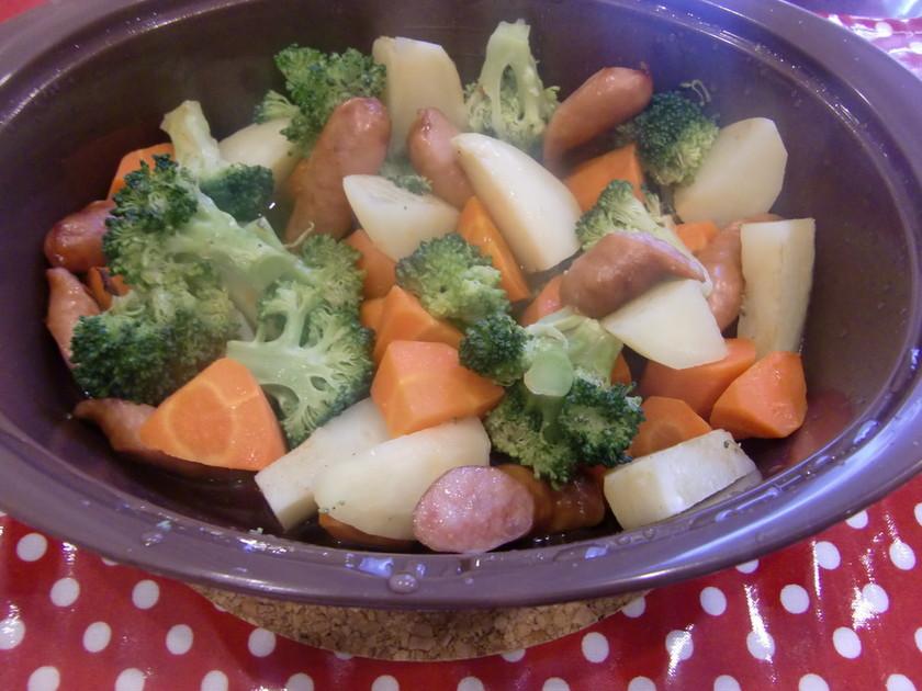簡単!レンジで温野菜★コンソメバター味★