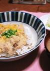 納豆と豆乳の親子丼
