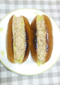 ツナ&カレーキャベツドッグ