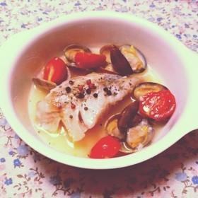 *簡単*トマトと白身魚のアクアパッツア