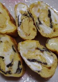 チーズと海苔の卵焼き