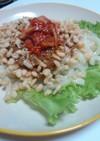 キムチ納豆のぶっかけ風うどん