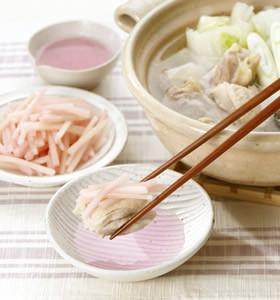 新生姜で水炊き
